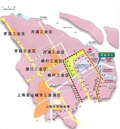 宝山开发区地图